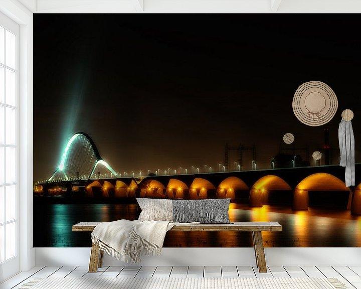 Sfeerimpressie behang: Oversteek bij nacht van Maerten Prins