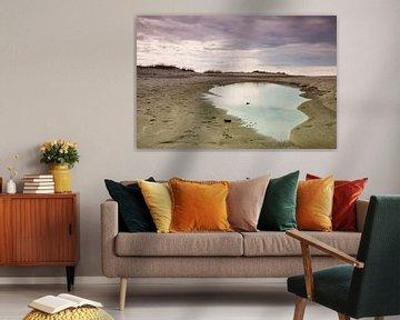 Strandsee an der Küste der Ostsee von Rico Ködder