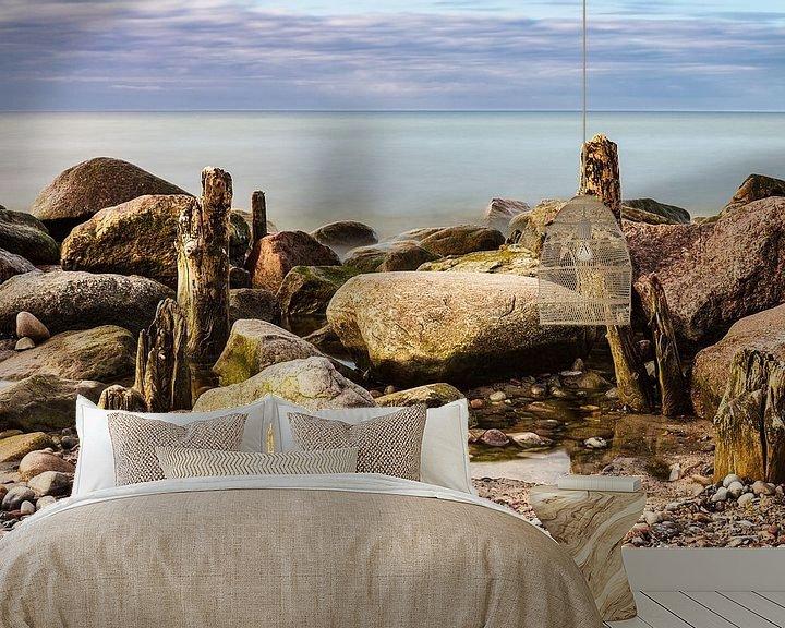 Beispiel fototapete: Buhnen an der Küste der Ostsee von Rico Ködder