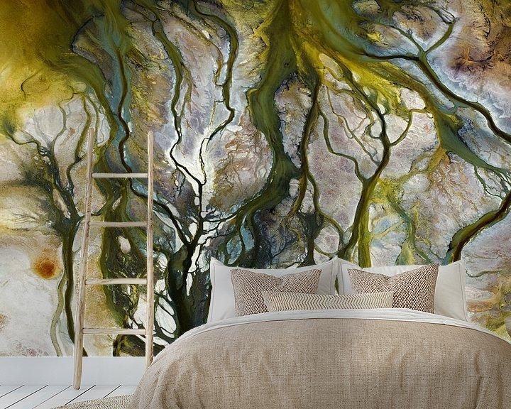 Sfeerimpressie behang: Colours of Water, Searles Lake van Marco van Middelkoop