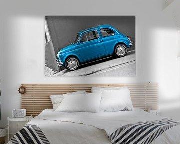 Scheef beeld van Fiat 500 van arjan doornbos