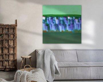 Lisse blauwgrijs op groen