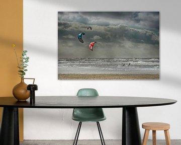 Nordsee-Kitesurfer sur Joachim G. Pinkawa