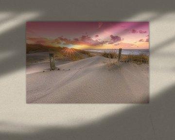 Zonsondergang in de duinen van Den Haag van Rob Kints