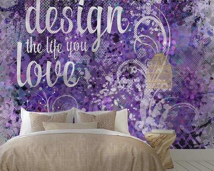 Beispiel fototapete: GRAPHIC ART Design the life you love | ultraviolet von Melanie Viola