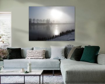 Rustiek winterlandschap aan het kanaal von Nicky`s Prints