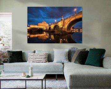 Engelsbrücke und Engelsburg Rom von Vincent Fennis