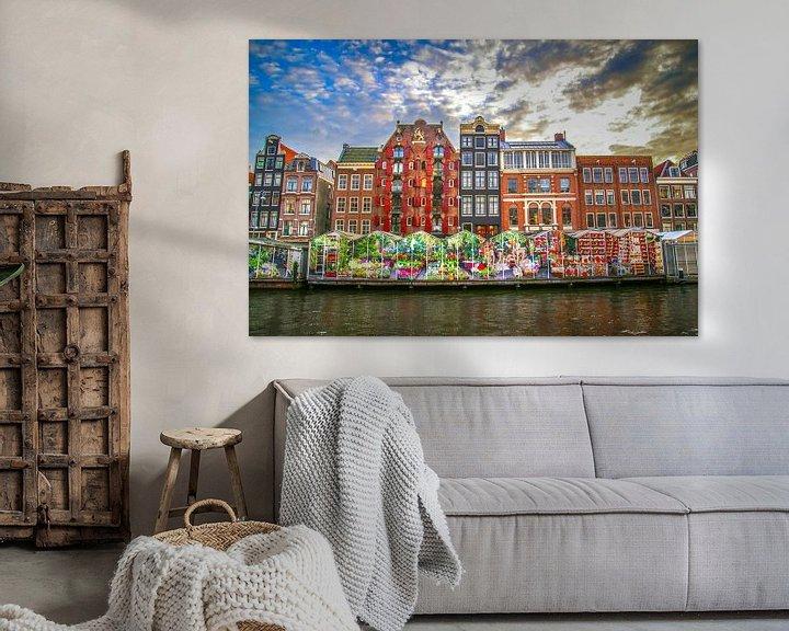 Sfeerimpressie: Bloemenmarkt Amsterdam 2014 van Omri Raviv