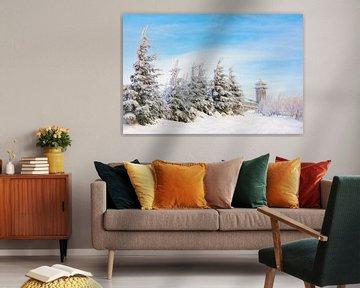 Winter in het Fichtelberghaus van Daniela Beyer