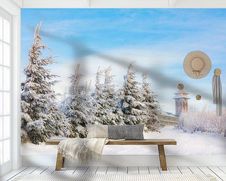 Sfeerimpressie behang: Winter in het Fichtelberghaus van Daniela Beyer