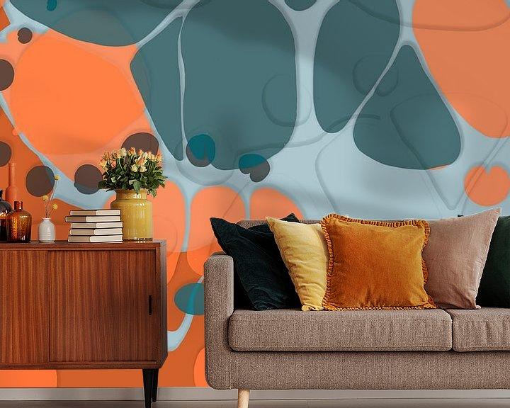 Sfeerimpressie behang: Overvloeien 3 van Art Pour Toi