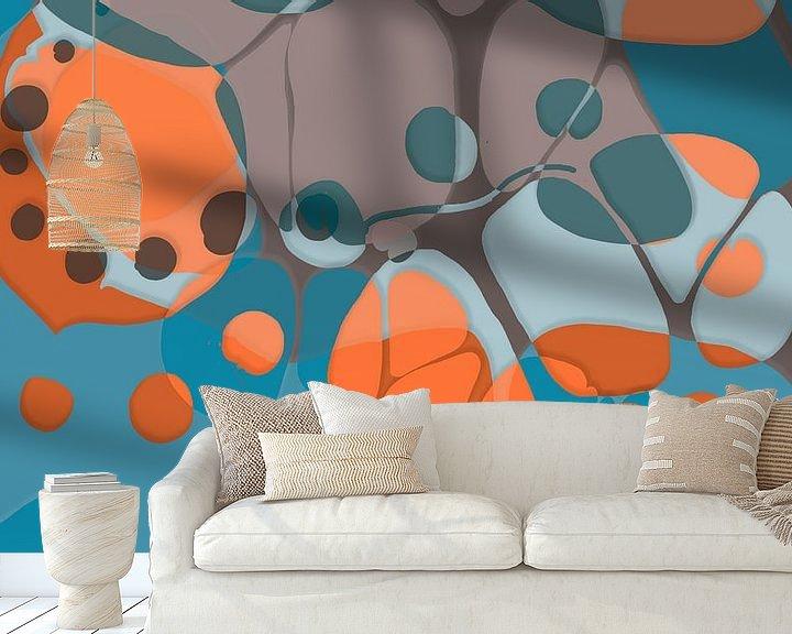 Sfeerimpressie behang: Overvloeien 2 van Art Pour Toi