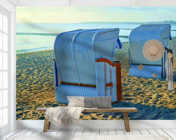 Beispiel fototapete: Zwei Strandkörbe am Ostseestrand von PhotoArt Thomas Klee