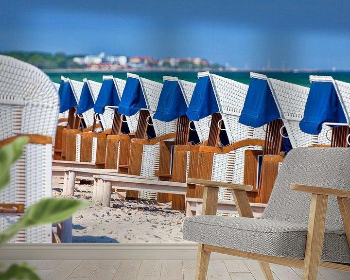 Beispiel fototapete: Strandkörbe in Reih und Glied von PhotoArt Thomas Klee