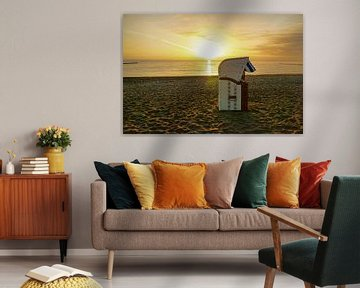 Sunrise at the Baltic Sea van PhotoArt Thomas Klee