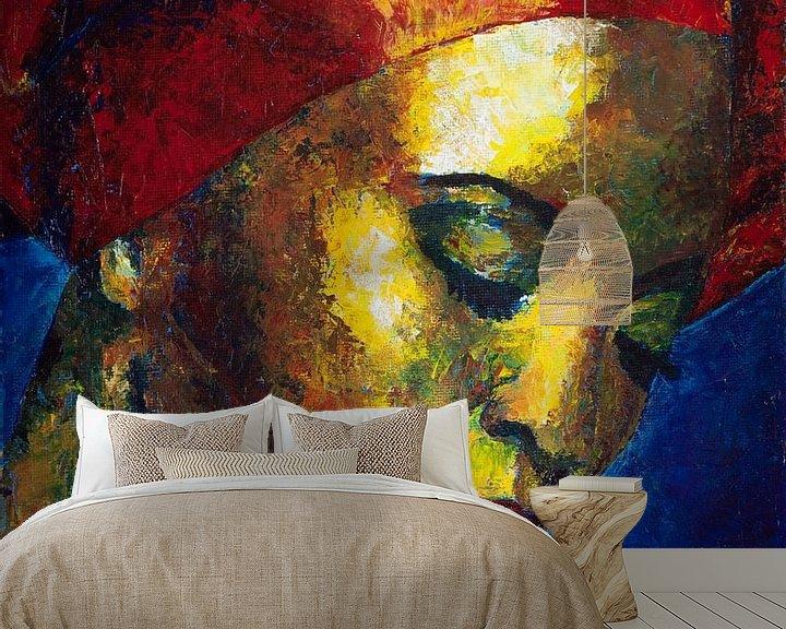 Sfeerimpressie behang: IntoTheNight van Lucienne van Leijen