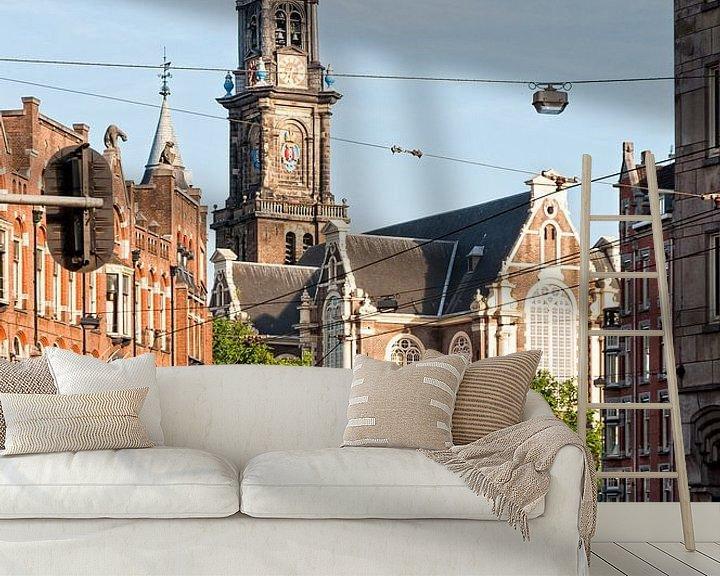 Sfeerimpressie behang: Westerkerk Amsterdam van Tom Elst
