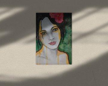 Rose sur Lucienne van Leijen