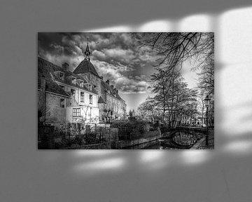 Dieventoren en Zuidsingel historisch Amersfoort zwartwit von Watze D. de Haan