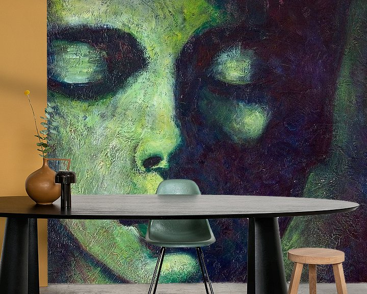 Sfeerimpressie behang: AngelBuddha van Lucienne van Leijen
