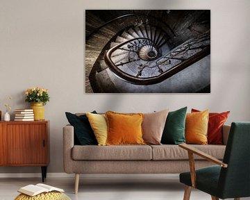Treppe mit Spirale von Inge van den Brande