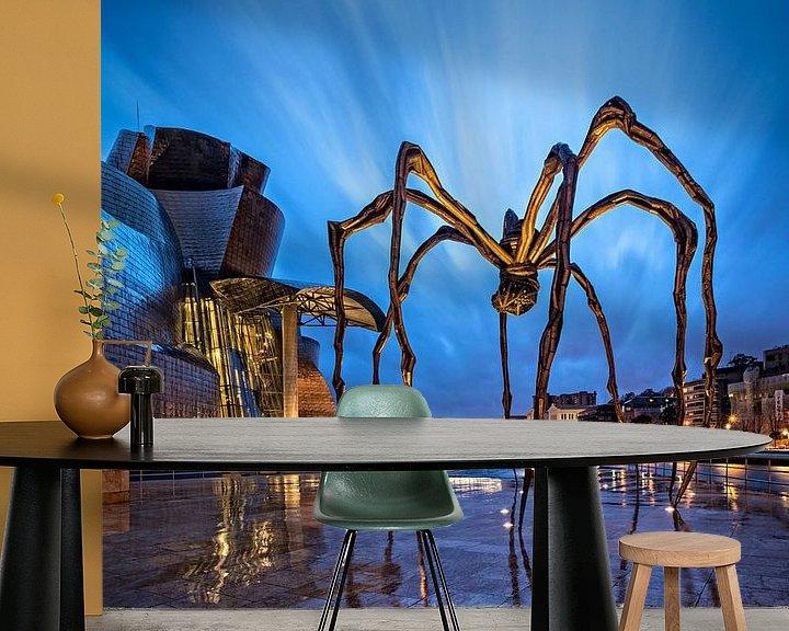 Sfeerimpressie behang: Maman | Guggenheim | Bilbao van Rob de Voogd / zzapback