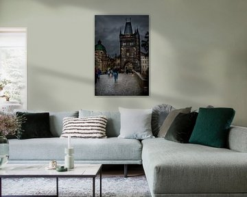 Oude stadsbrugtoren in Praag van Marcel Alsemgeest