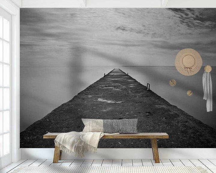 Sfeerimpressie behang: When sky meets the ocean van Jaap de Wit