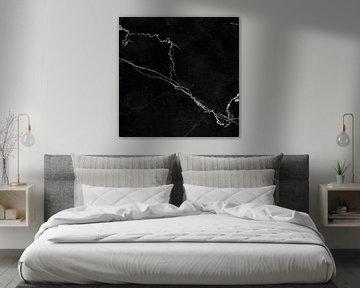 MARBLE BLACK & WHITE v2 von Pia Schneider