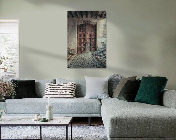 Beispiel: Verlaten plekken: Spaanse fabriekspoort. von Olaf Kramer