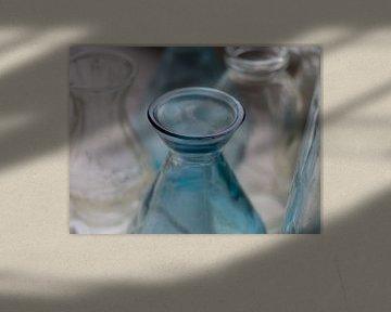 Blauwe Fles van Jantien van Dam