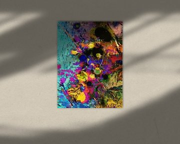 Modern, Abstract Digitaal Kunstwerk – Beneath The Burning Man (Links) van Art By Dominic
