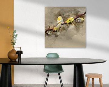 Tak met katjes van een wilgensoort von Art by Jeronimo