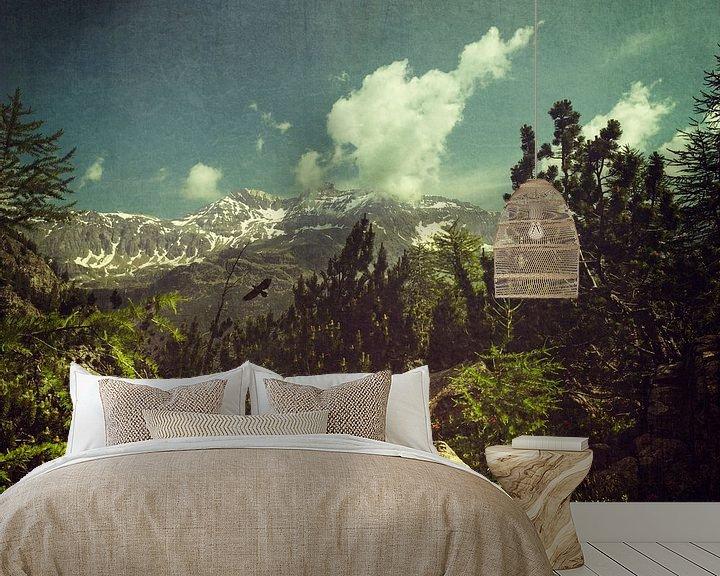 Sfeerimpressie behang: Italian Alps near Chiareggio - Lombardia van Dirk Wüstenhagen