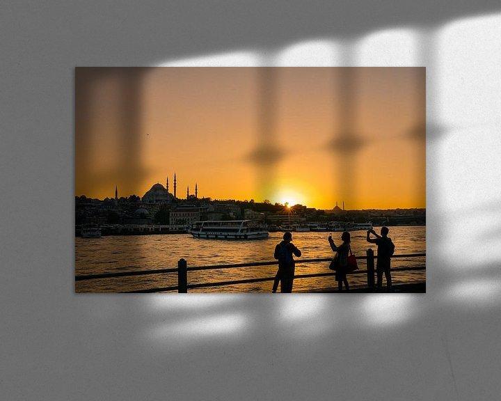 Sfeerimpressie: Zonsondergang Istanbul  van Ali Celik