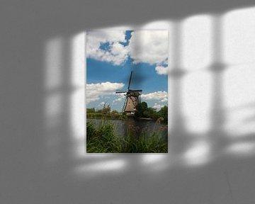 Windmolen in Hollands landschap van Martijn Stoppels