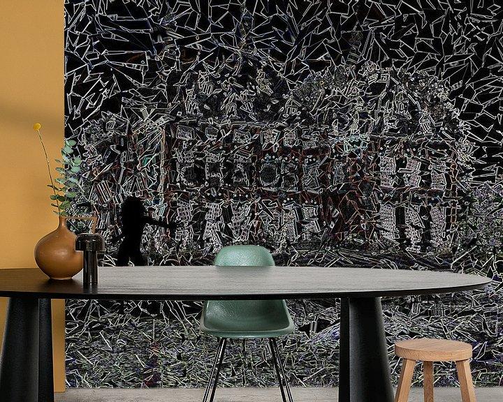 Sfeerimpressie behang: Chaos van Carla van Zomeren