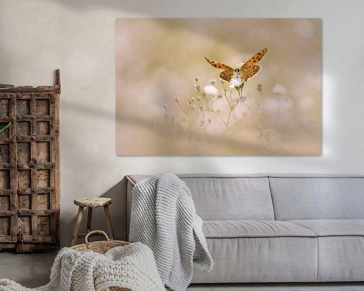 Sfeerimpressie: Vlinder op een wolk van Gipskruid van Lia Hulsbeek Brinkman