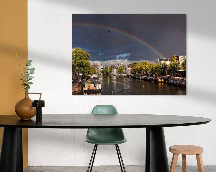 Sfeerimpressie: Regenboog over de Amstel van Tom Elst