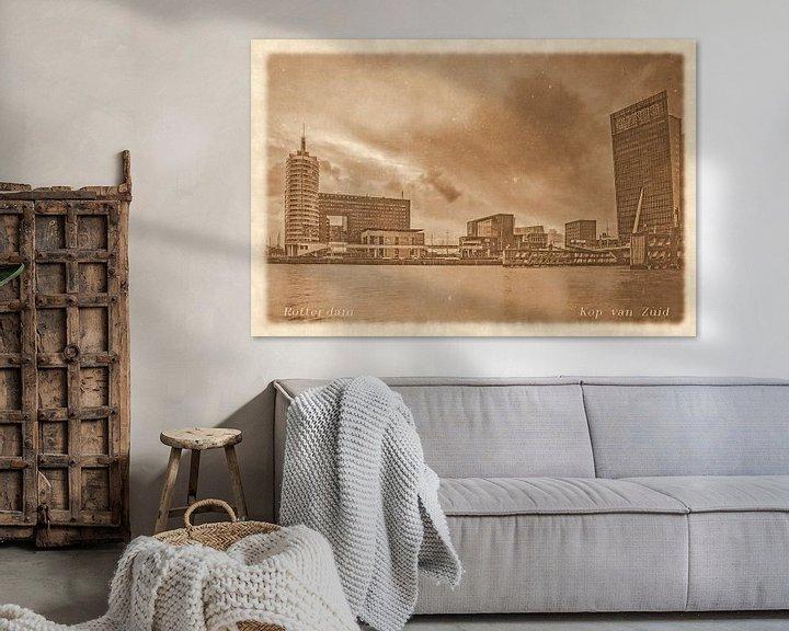 Sfeerimpressie: Oude ansichten: Rotterdam Kop van Zuid van Frans Blok