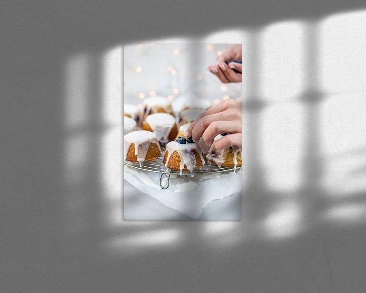 Sfeerimpressie: Teacakes met blauwe bessen van Nina van der Kleij