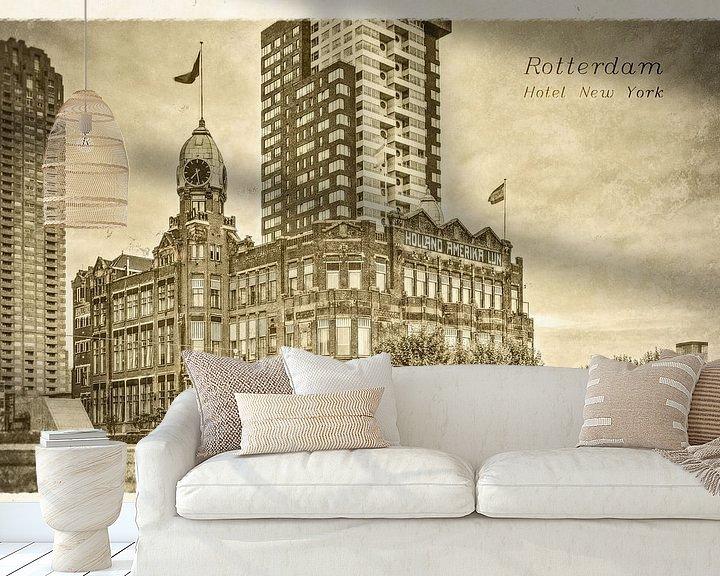 Sfeerimpressie behang: Oude ansichten: Hotel New York van Frans Blok