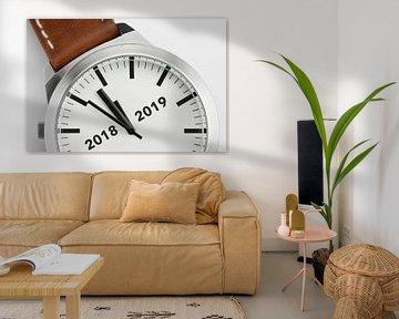 Horloge met tekst 2018 2019 von Tonko Oosterink