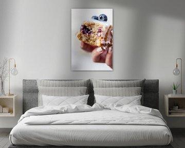 Teacakes met blauwe bessen & amandelen van Nina van der Kleij