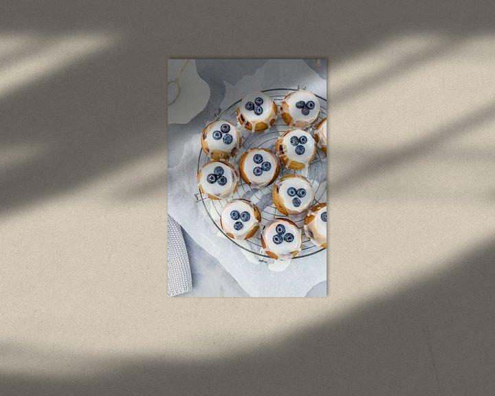 Sfeerimpressie: Teacakes met blauwe bessen & amandelen van Nina van der Kleij