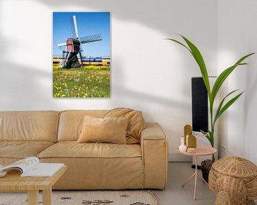 Moulin dans le polder néerlandais sur Raoul Suermondt