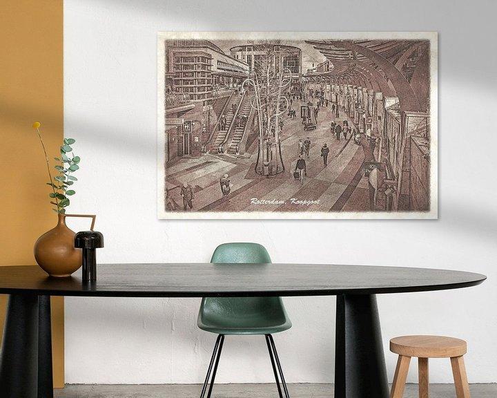 Sfeerimpressie: Oude ansichten: Rotterdam Koopgoot van Frans Blok