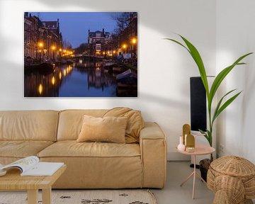 De Oude Rijn in Leiden van Chris van Keulen