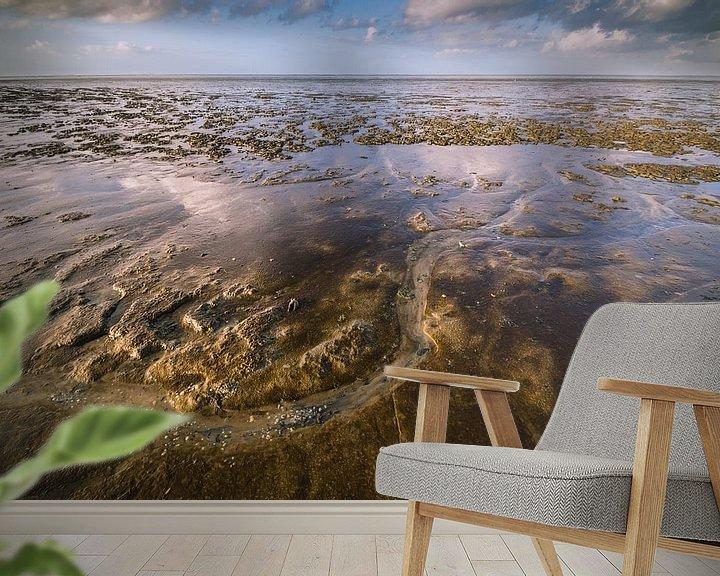 Sfeerimpressie behang: Waddenzee bij eb van Martzen Fotografie