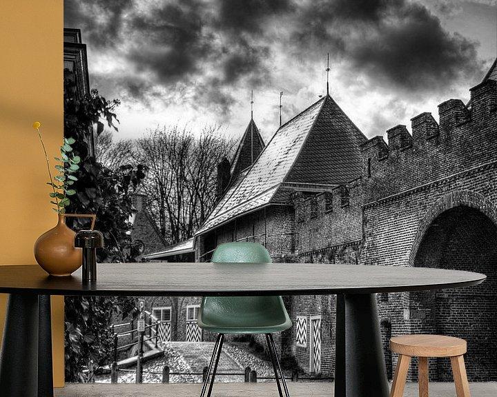 Impression: Koppelpoort historisch Amersfoort zwartwit sur Watze D. de Haan